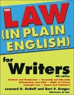The Law (in Plain English)(R) for Writers - DuBoff, Leonard D. Krages, Bert, II