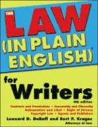 The Law (in Plain English)(R) for Writers