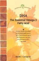 Dha: The Essential Omega-3 Fatty Acid