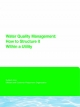 Water Quality Management - Edward Means III  G; Mark Lechevallier