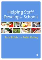 Helping Staff Develop in Schools