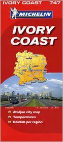 Michelin Map Africa: Ivory Coast #747