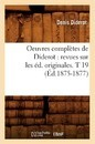 Oeuvres Compl tes de Diderot - Denis Diderot