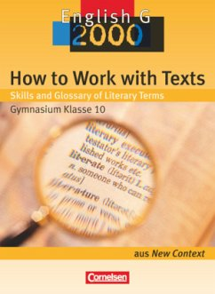 How to Work with Texts: Skills and Glossary of Literary Terms - Hrsg. v. Helmut Schwarz