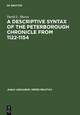 A Descriptive Syntax of the Peterborough Chronicle from 1122-1154 - David L. Shores