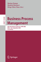 Business Process Management - Marlon Dumas; Manfred Reichert; Ming-Chien Shan