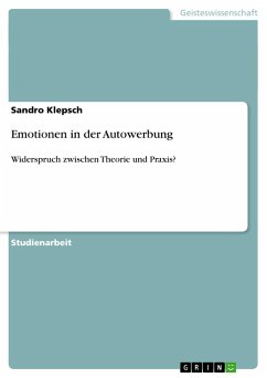 Emotionen in der Autowerbung - Klepsch, Sandro