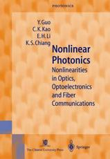 Nonlinear Photonics - Y. Guo, C.K. Kao, H.E. Li, K.S. Chiang
