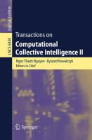 Transactions on Computational Collective Intelligence II