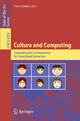 Culture and Computing - Toru Ishida
