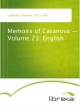 Memoirs of Casanova - Volume 23: English - Giacomo Casanova