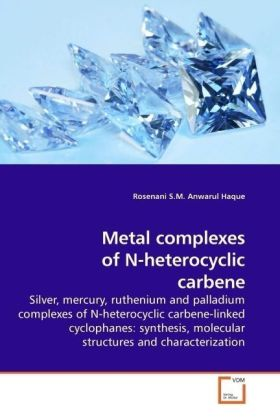 Metal complexes of N-heterocyclic carbene - Silver, mercury, ruthenium and palladium complexes of N-heterocyclic carbene-linked cyclophanes: synthesis, molecular structures and characterization - Haque, Rosenani S. M. A.