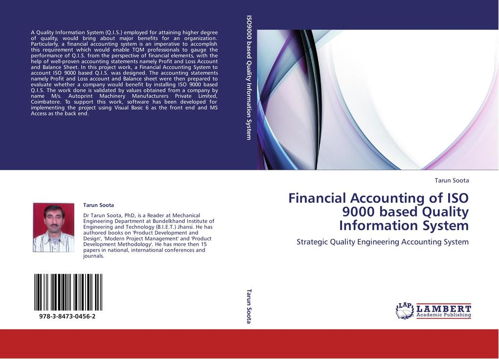 Financial Accounting of ISO 9000 based Quality Information System als Buch von Tarun Soota - Tarun Soota