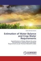 Estimation of Water Balance and Crop Water Requirements - Tathir Ahmad Usmani