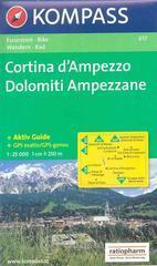 Carta escursionistica n. 617. Trentino, Veneto. Cortina d'Ampezzo, Dolomiti ampezzane 1:25000. Adatto a GPS. DVD-ROM. Digital map