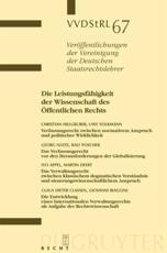 Die Leistungsf��higkeit der Wissenschaft des ��ffentlichen Rechts - Christian Hillgruber, Uwe Volkmann, Georg Nolte, Ralf Poscher, et al.
