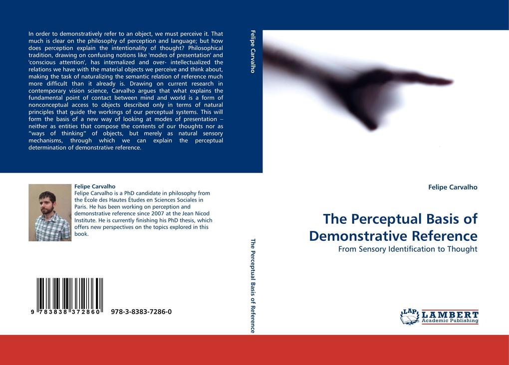 The Perceptual Basis of Demonstrative Reference als Buch von Felipe Carvalho - LAP Lambert Acad. Publ.