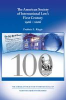 The American Society of International Law's First Century: 1906-2006