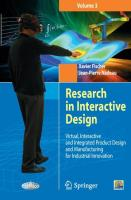 Research in Interactive Design (vol. 3): Virtual, Interactive And Integrated Product Design And Manufacturing For Industrial Innov