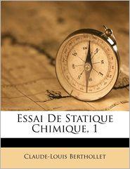 Essai De Statique Chimique, 1