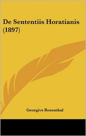 de Sententiis Horatianis (1897)