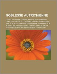 Noblesse Autrichienne - Source Wikipedia, Livres Groupe (Editor)