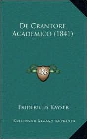 de Crantore Academico (1841)