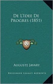 de L'Idee de Progres (1851) - Auguste Javary