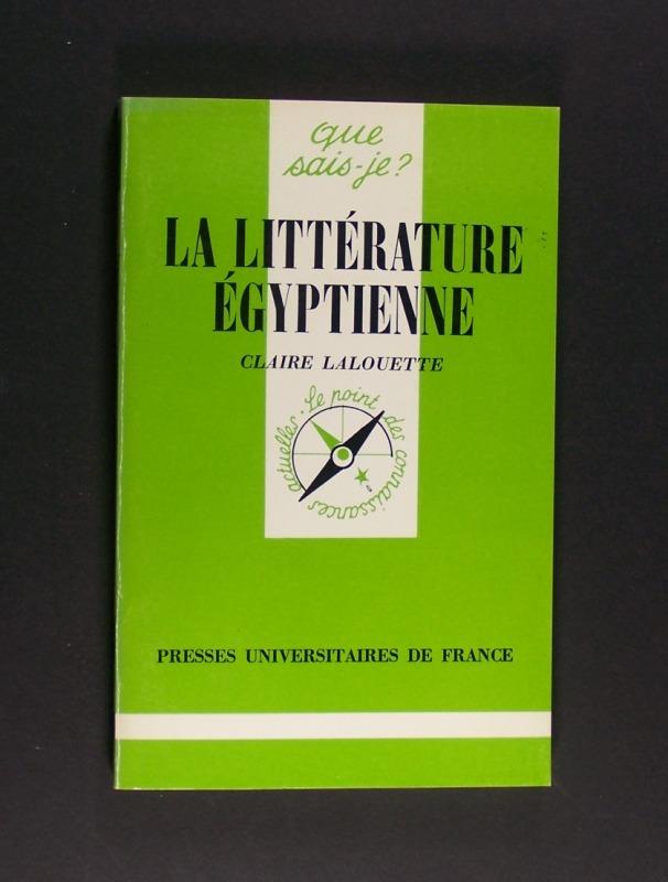 La littérature égyptienne