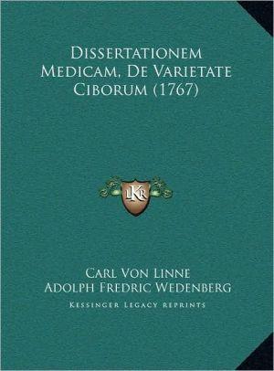 Dissertationem Medicam, De Varietate Ciborum (1767) - Carl Von Linne, Adolph Fredric Wedenberg