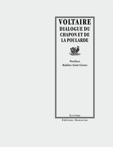 Dialogue du chapon et de la poularde - Voltaire