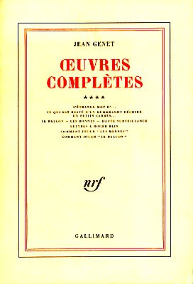 Oeuvres complètes, Tome 4. - Genet, Jean